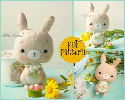 PDF Pattern. Cute Easter Bunny