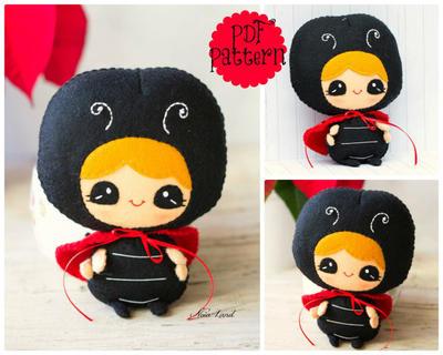 PDF Pattern. Ladybug Ladybird