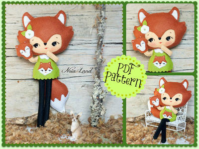 PDF. Woodland fox doll with puppet