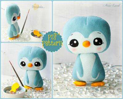 Pingüino. Patrón PDF