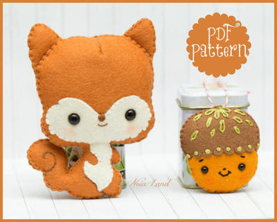 Squirrel and acorn (PDF Pattern)