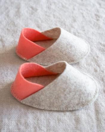 Felt Baby Slippers - Patucos de Fieltro para bebé