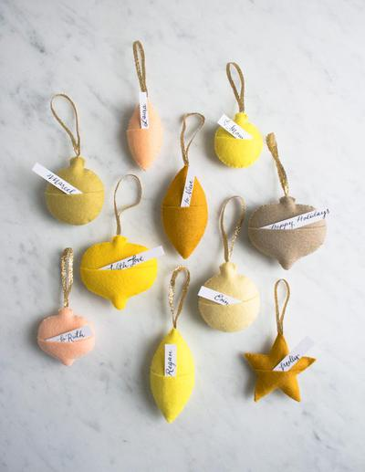 Felt Ornament Gift Tags - Adorno de Fieltro para Regalos