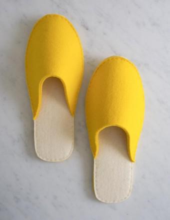 Stacked Felt Slippers - Patrón Zapatillas de Fieltro
