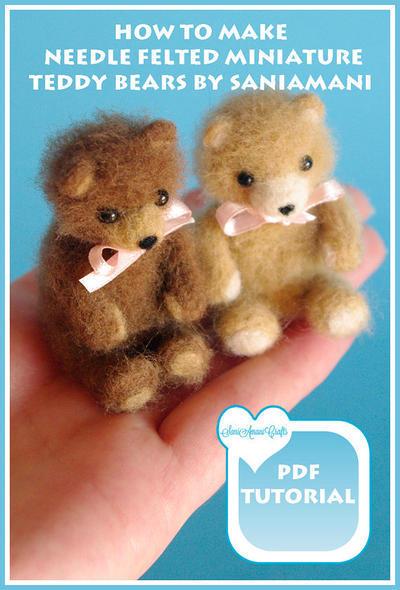 Tutorial para hacer miniatura de oso de peluche de fieltro