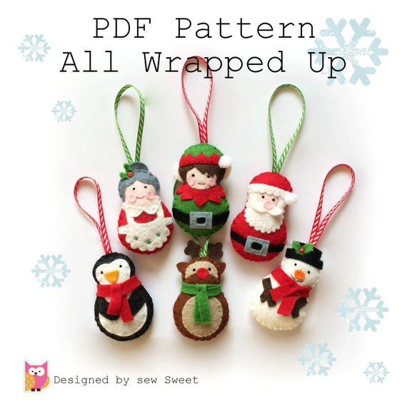 All Wrapped up Christmas Ornament decorations - tree decorations