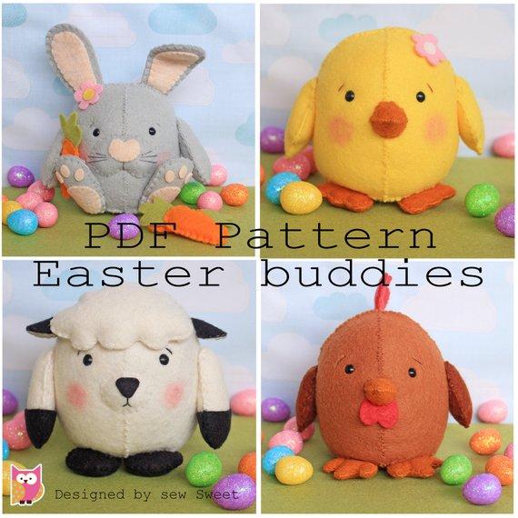 Easter buddies pdf pattern.