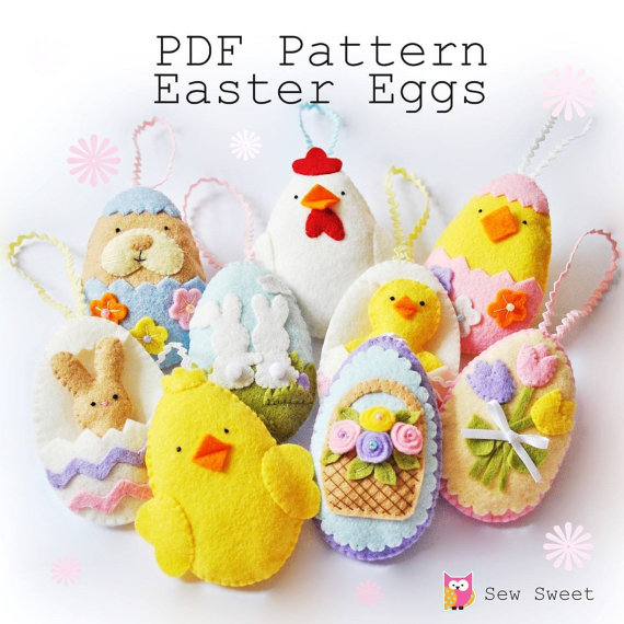 Easter Eggs set one PDF pattern
