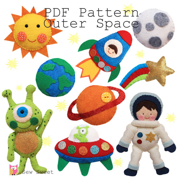 Outer Space PDF pattern