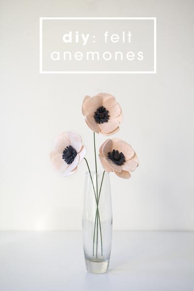 DIY Felt Anemone