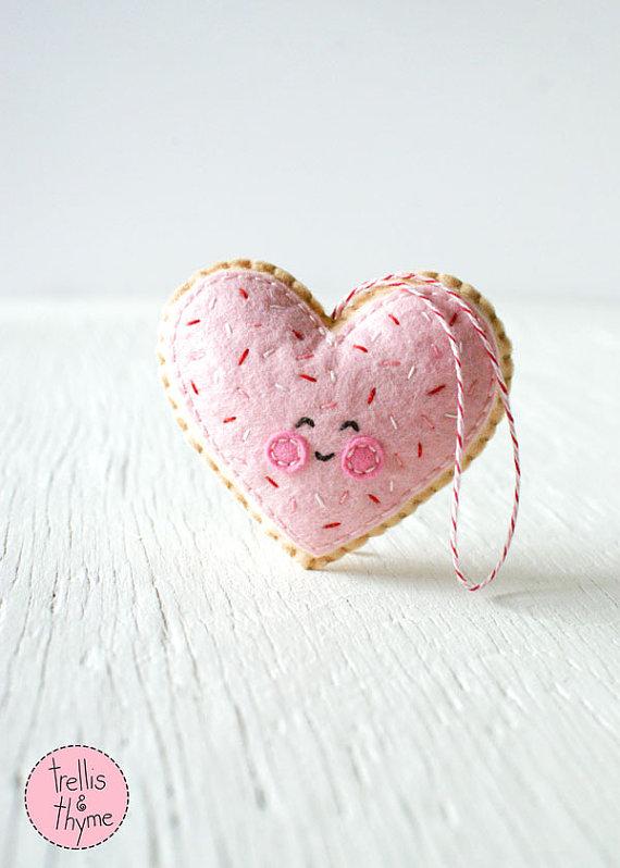 Corazón de galleta de azúcar