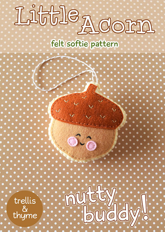 Little Acorn PDF Felt Pattern