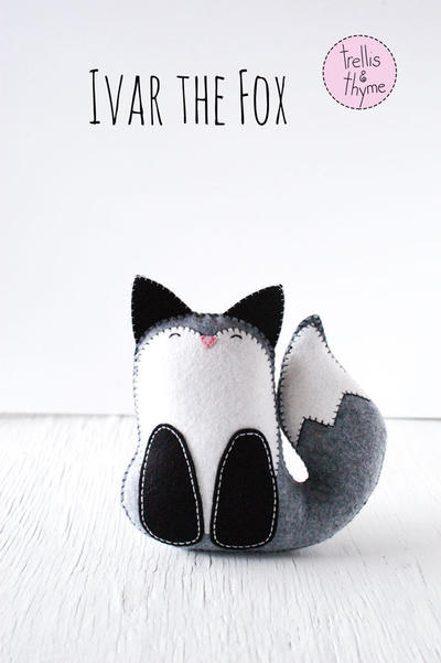 PDF Pattern - Ivar the Fox Felt Softie Pattern