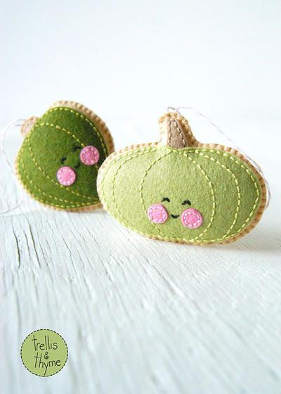PDF Pattern - Little Acorn Squash and Green Pumpkin Sewing Pattern