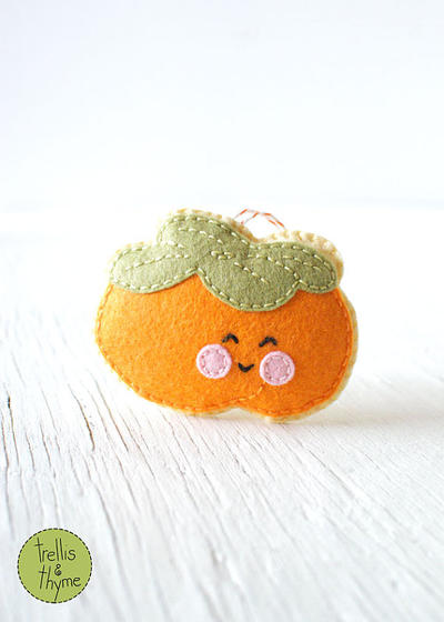 PDF Pattern - Little Persimmon Sewing Pattern, Autumn Winter Felt Ornament Pattern