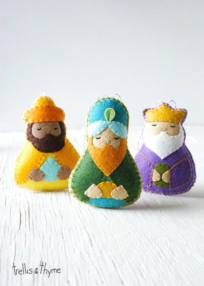 PDF Pattern - The Magi, Nativity, Three Wise Men Ornament Pattern