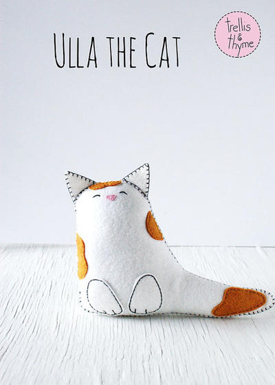 PDF Pattern - Ulla the Cat Felt Softie Pattern