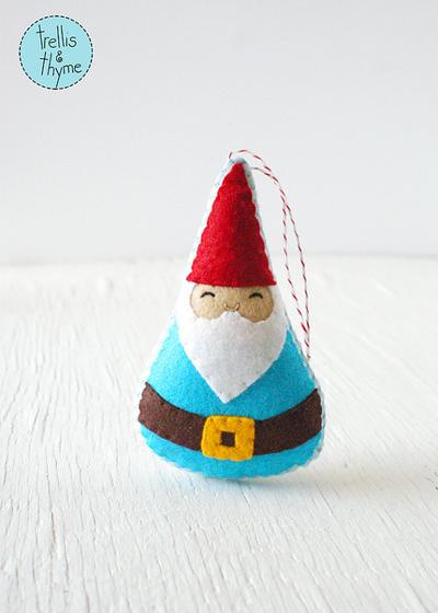 PDF Pattern - Woodland Gnome Felt Sewing Pattern
