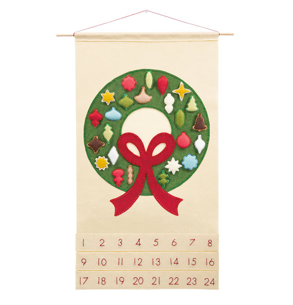 "Christmas Advent Calendar Pattern - ""Carol of the Bells with 24 Vintage Ornaments"""