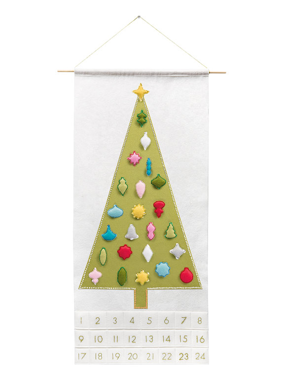 Christmas Advent Calendar Pattern - Christmas Countdown - 'Joyful and Triumphant with 24 Vintage Ornaments'