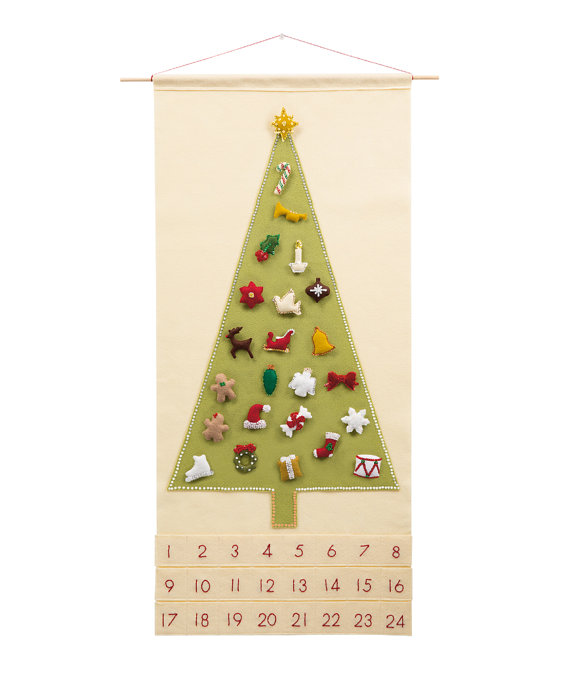 Christmas Advent Calendar Pattern - 'Joyful and Triumphant with 24 Treasured Characters'
