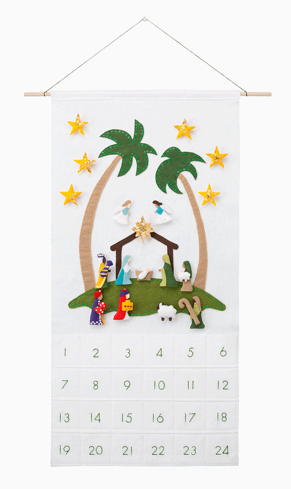 Nativity Advent Calendar Pattern