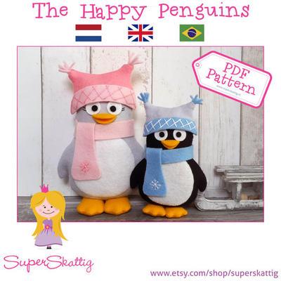 PDF patrón pingüinos felices
