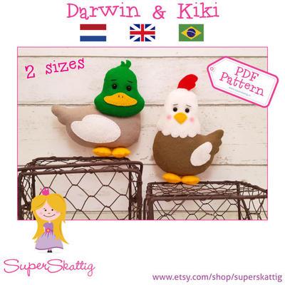 PDF pattern Darwin & Kiki