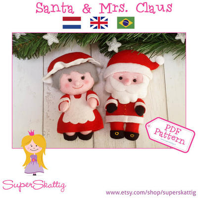 PDF pattern Santa & Mrs. Claus