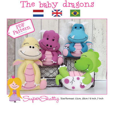 PDF pattern The baby dragons