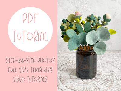 Evergreen Mini Foliage Collection - felt pattern and video tutorial