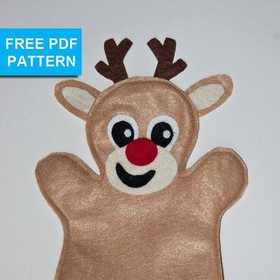 Holiday Reindeer Felt Hand Puppet