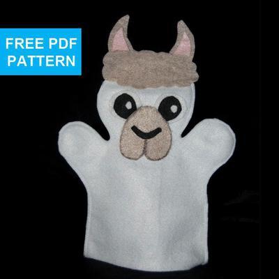 Llama Felt Hand Puppet Pattern