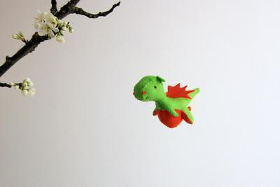 PDF Wool felt dragon pattern, waldorf