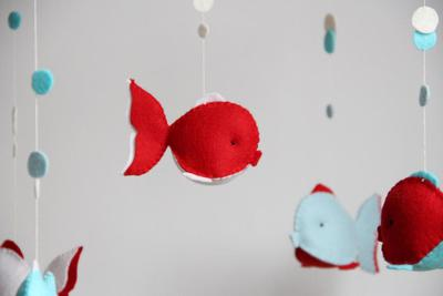 PDF Wool felt fish pattern, waldorf