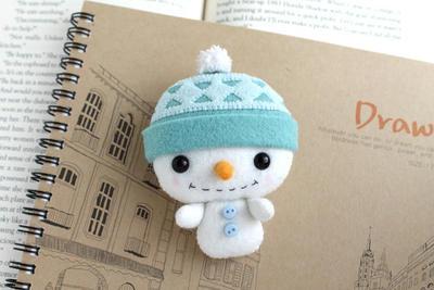 Patrón de PDF - Peluche de fieltro muñeco de nieve Nogget