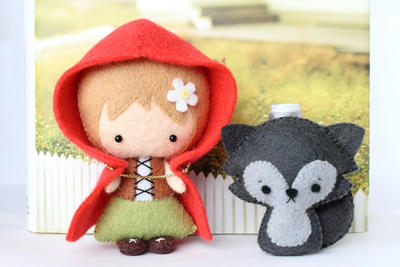 Patrones: Fieltro Little Red Riding Hood y Lobezno
