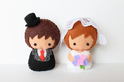 Patterns: Felt Groom and Bride Dolls