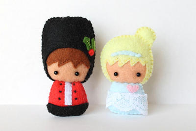 Patterns: Felt Nutcracker and Ballerina Dolls