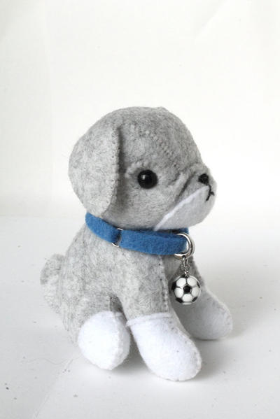 PDF Pattern - Felt Bulldog Plush