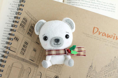 PDF Pattern - Felt Polar Bear Nogget Plush