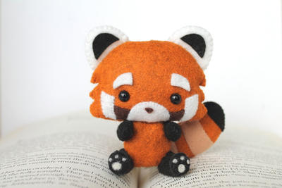 PDF Pattern - Felt Red Panda Nogget Plush